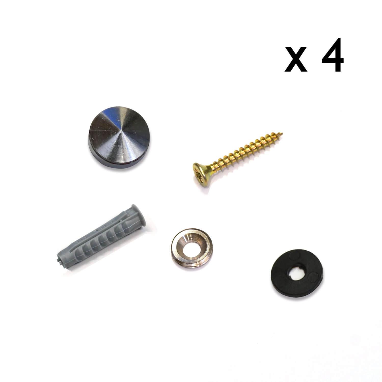 kit de fixation avec cache vis pour plaque professionnelle. Black Bedroom Furniture Sets. Home Design Ideas