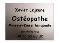 Plaque pro pour ostéopathe