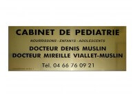 Plaque pro pour pédiatre