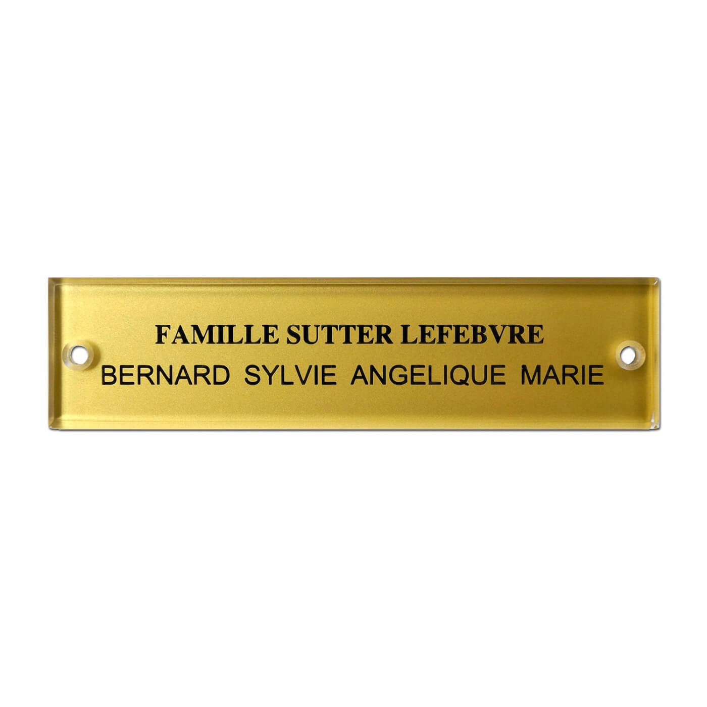 plaque de boite aux lettres en plexiglass grav 10 x 2 5 cm. Black Bedroom Furniture Sets. Home Design Ideas