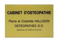 Plaque cabinet osteopathie