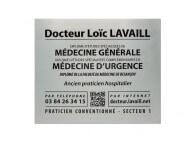 Plaque médecin avec site