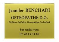Plaque pro ostéopathe
