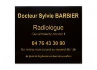 Plaque pro radiologue