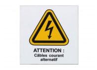 Plaque danger avec logo