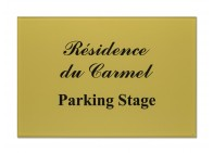 Plaque de parking