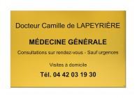 Plaque médecine générale