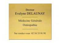 Plaque médecin ostéopathe