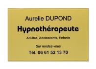 Plaque hypnothérapeute