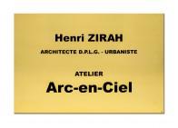 Plaque pro architecte