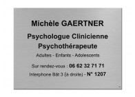 Plaque psychologue clinicienne