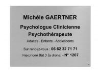 Plaque psychologue clinicienne
