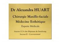 Plaque médecine esthétique