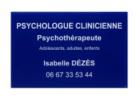 Plaque pro psychologue