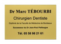 Plaque dentiste succession
