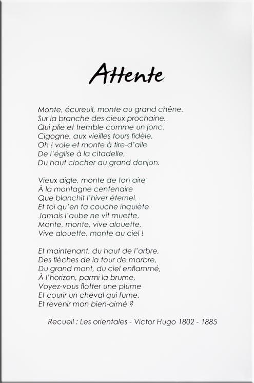 Poème Attente, extrait du recueil Les Orientales - Victor Hugo