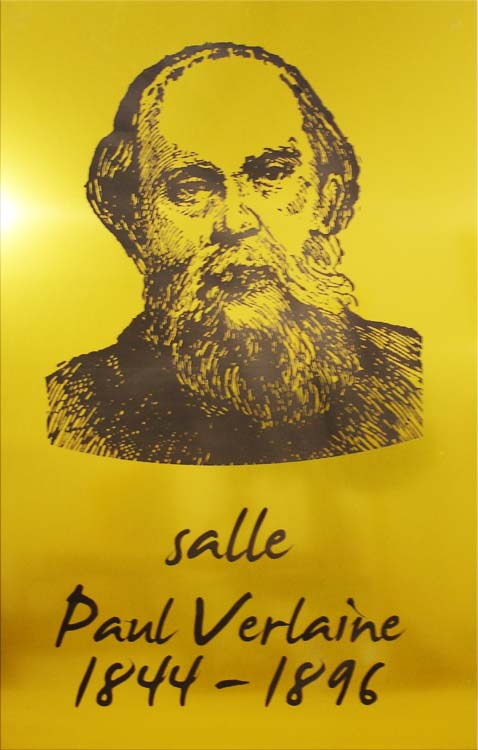 Plaque portrait de Paul Verlaine