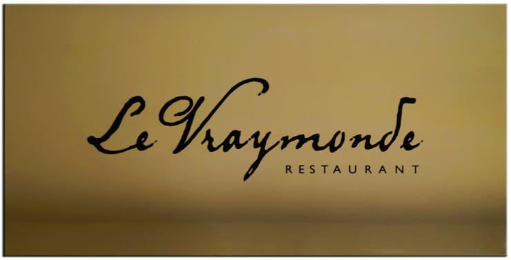 Plaque laiton restaurant Le Vraymonde