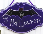 Plaque de porte Halloween