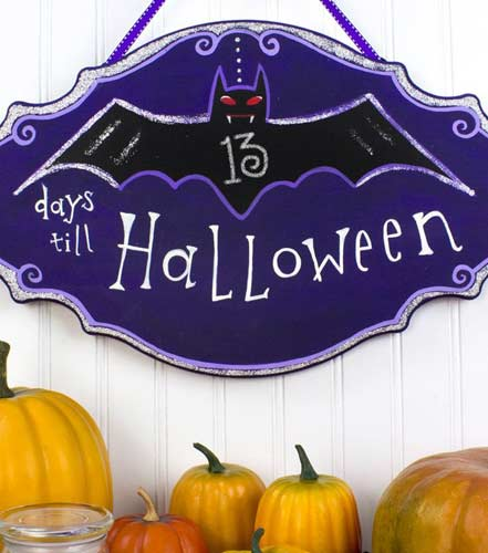 Plaque de porte Halloween