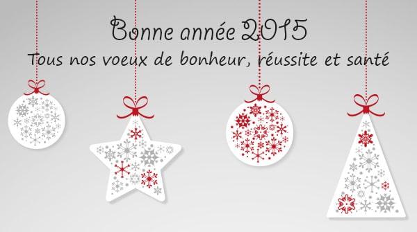 TGL vous souhaite une bonne année 2015