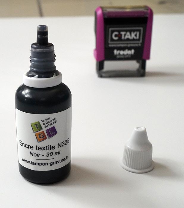 Flacon compte goutte de l'encre textile N325