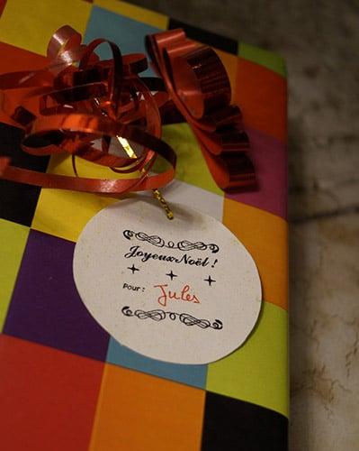 Etiquette au tampon Joyeux Noël !