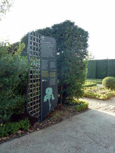 Prix de la Créativité Icona d'Or 2016 - Panneau du parc de Bagatelle