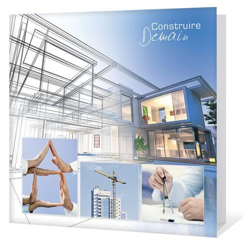 Carte de voeux d'entreprise thème Construire l'avenir ensemble