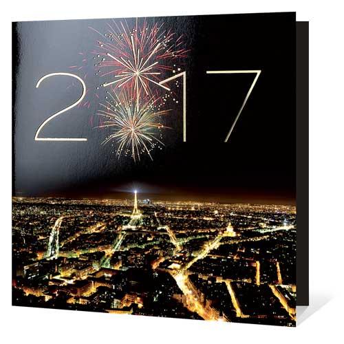 Carte de Voeux Paris Ville Lumière 2017