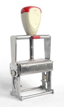 Photo ancien tampon trodat professionnel 4206