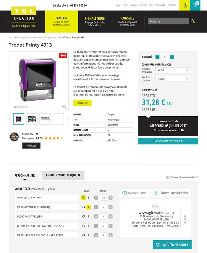 Nouveau site tglcreation.com 2017