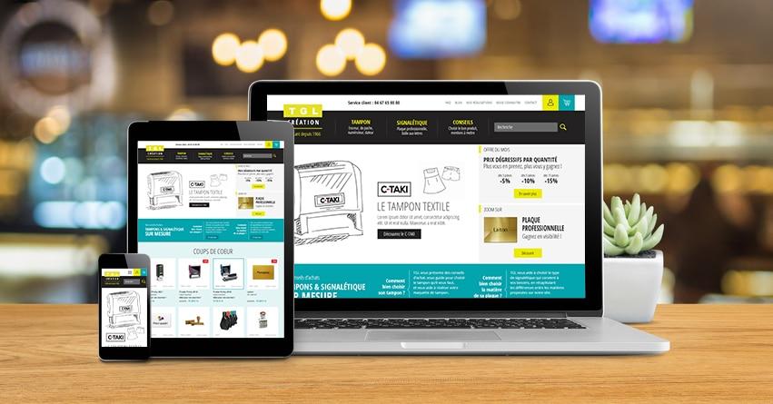 nouveau site tglcreation.com sur tous supports