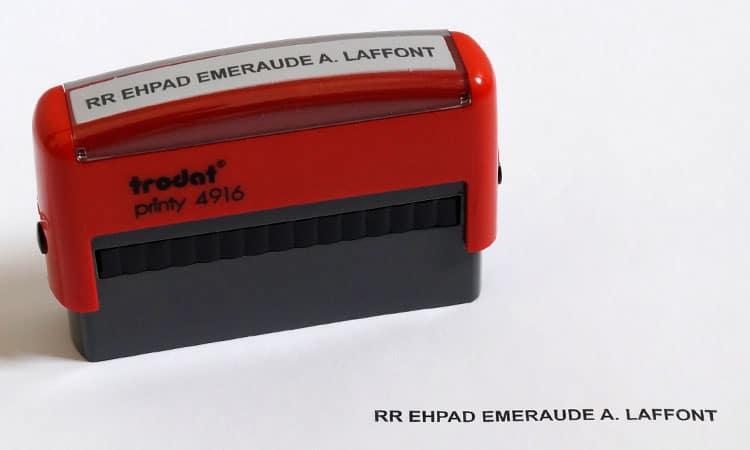 Exemple de tampon chèque