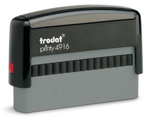 Modèle de tampon Printy 4916 pour endosser les chèques