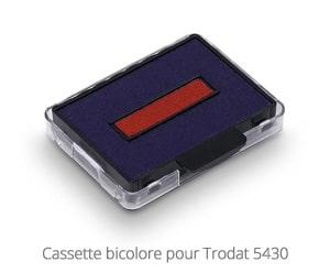 Cassette bicolore pour Trodat 5430