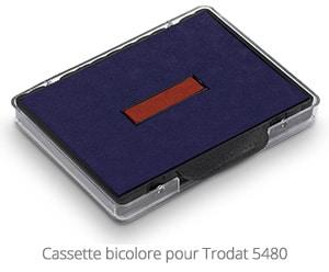 Cassette bicolore pour Trodat 5480