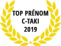 Palmarès des prénom C-TAKI 2019