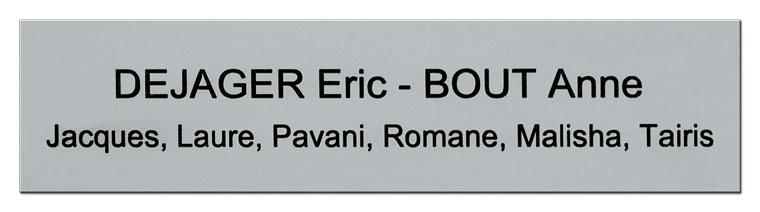 Plaque nom boite aux lettres avec prénom des enfants