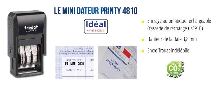Dateur élections 2020 Trodat Printy 4810 : avantages