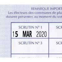 Extrait de carte électorale tamponnée