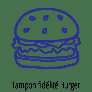 Motif tampon fidélité Burger
