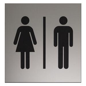 Exemple de plaque avec le pictogramme des Toilettes