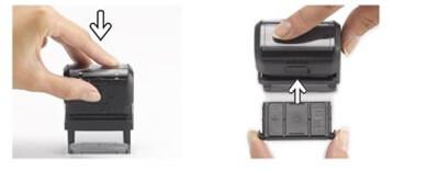 comment remplacer la recharge d 39 un tampon encreur tgl cr ation. Black Bedroom Furniture Sets. Home Design Ideas