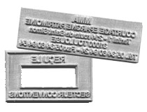 Deux plaques en caoutchouc pour empreinte de tampon encreur