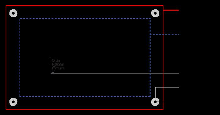 Exemple de maquette pour plaque gravée avec instructions
