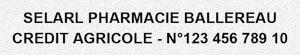 Exemple tampon chèque pour pharmacie