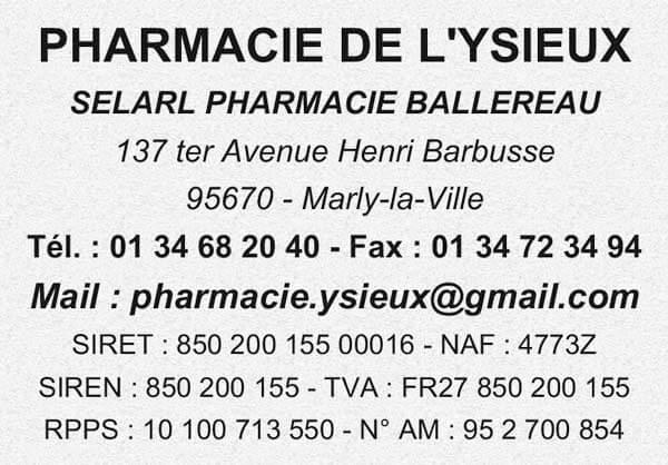 Exemple de tampon pharmacie avec mentions obligatoires