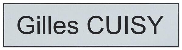 Plaque boite aux lettres pvc : exemple en gris