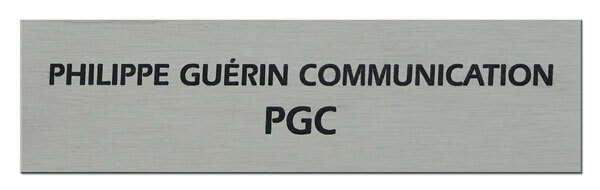 Plaque boite aux lettres aluminium : exemple